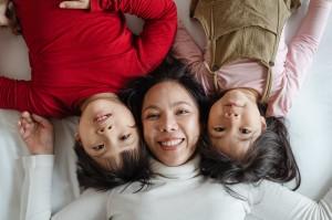 Laiminga mama ir vaikai